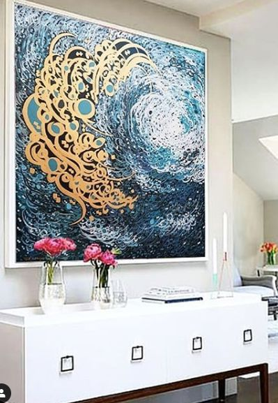 نقاشی و چاپ روی دیوار و تغییر های خوب در اتاق نشیمن